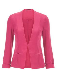 Lightweight mixed berry blazer with clip closure (original price, $44) available at #Maurices