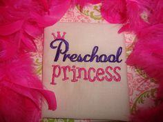 Preschool Princess (The Ruffled Rose Bowtique on facebook)