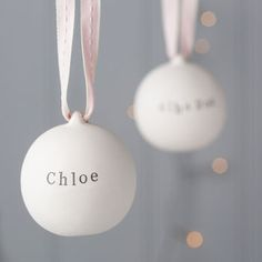 Baby's First Ceramic Christmas Bauble