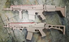 wooden diy rubber band gun cz805 & fnscar
