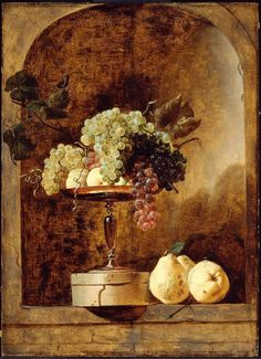 Grapes, Peaches and Quinces in a Niche - Frans Snyders