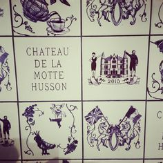 "19 Likes, 1 Comments - Alison Coward (@alisoncoward) on Instagram: ""Super cute bespoke tiles at Angel & Dick's wedding #chateaudelamottehusson"""