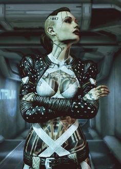 Jacqueline Nought Mass Effect Cosplay | Post-apocalyptic/Cyberpunk Avant-Garde Fashion |: