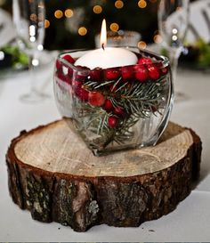 Winter Wedding Ideas - Rustic Centerpiece - Click pic for 25 DIY Wedding Decorations | Small Budget Wedding Ideas