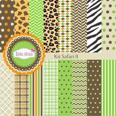 Kit Papel Digital Safari II