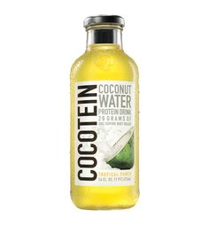 Isopure Cocotein Coconut Water Protein Drink Single Glass Bottle 473 ML (16 FL OZ) - MusclePetrol.com