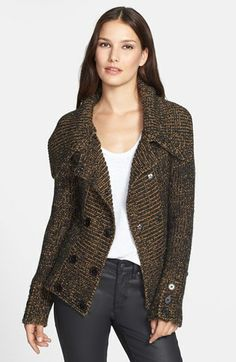 Adrianna Papell Double Breasted Sweater Jacket available at #Nordstrom