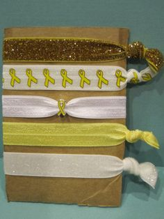 Childhood Cancer Awareness 5 Pack of Elastic by ForMyDaughter114, $7.00