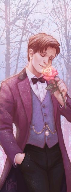 He always kept an eternal rose in his pocket. Why eternal? Because he was a Time Lord and he managed to capture this rose in one second, for ever. Since the Ponds had left, he smelt this rose as often as he could. No one could ever replace his Rose in his hearts and mind.