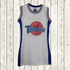 e284644a Space Jam Tune Squad Ladies Dress Women Movies Outfit Rare Stitched Retro  White Space Jam Jersey
