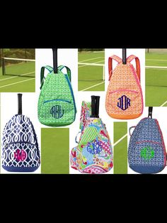 Monogrammed tennis bags  misslucysmonograms.com I sooooooo want one for Christmas!!!