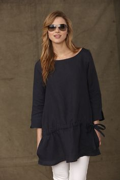 Dark navy Irish linen Tunic £98  Made in England  Machine Washable