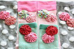Yo-Yo Embellished Socks