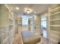 Ideas For Narrow Closet Organization Bookshelves Bedroom Closet Storage, Bedroom Closet Design, Master Bedroom Closet, Storage Closets, Attic Storage, Master Suite, Walk In Closet Design, Closet Designs, Narrow Closet