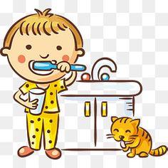 Crianças escova de dentes, Lavar, O Rapaz, Tabela De LimpezaPNG e Vector