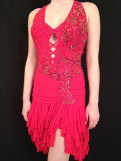 Dore Red Latin | Rent Ballroom Dresses
