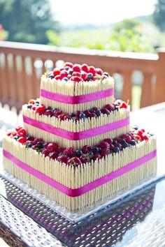 Ovocný svatební dort, měla jste některá? - - Svat...