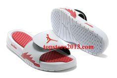d9b8d31573a3 Girls Jordan Hydro 2 Slide White Red Retro Jordans