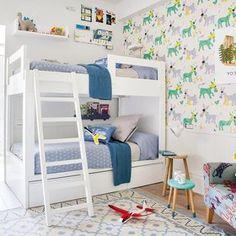 dormitorio juvenil con literas