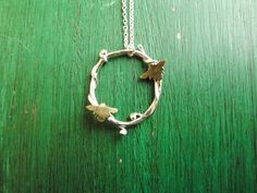 Vine & Bumble Bee Necklace