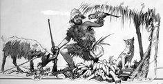 The Real Robinson Crusoe (Original) (Signed) by John Millar Watt at The Illustration Art Gallery