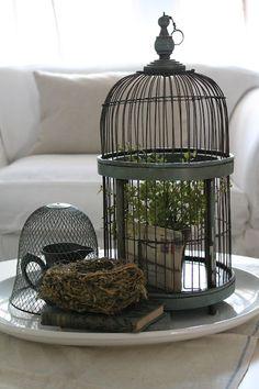 $15 flea market find: vintage birdcage