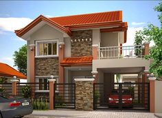 Contemporary Modern House Design Elevations Ground And First Plans
