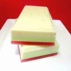 Apple Soap - Salt Bar Soap, Apple Orchard,  Exfoliating Soap, Fall, Autumn, Halloween Soap, Shea Butter, Olive Oil