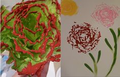 Veggie painting with lettuce
