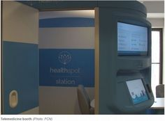 """It's called telemedicine -- a practice that allows a doctor to give you a checkup through certain telecommunication technologies like a large kiosk created by HealthSpot""-Garin Flowers of WTLV"