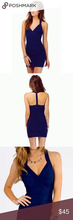 Tobi Fabian Bodycon Dress- Size Small Navy Bodycon dress from Tobi. Size small with side zipper. Perfect party dress! Only worn twice for sorority formals. Tobi Dresses Mini