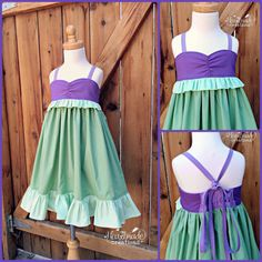 Ariel - Everyday Princess Dress - Character Inspired Dress - Sizes 12/18 months to 8