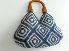 NzLbags New - Summer Bag Afghan Crochet Bag, Handbag - Shoulder Bag Crochet Woman, Crochet Baby, Knit Crochet, Afghan Crochet, Crochet Handbags, Crochet Purses, Knitting Yarn, Hand Knitting, Hippie Purse