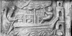 Relief of a merchant ship carrying wild animals - A ship approaches the lighthouse. On board are lions in cages, destined for the amphitheatre. Ancient Rome, Ancient Art, Roman Sculpture, Lion Sculpture, Roman Man, Sea Peoples, Famous Lighthouses, Appeasement, Statues