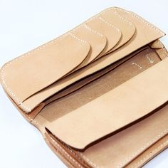 100% Hand-stitched Vegetable Tanned Leather Wallet by AnneSoye