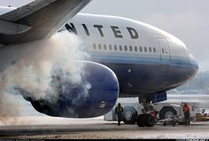 Engine start up on a Boeing 777. One  of my favourite airline liveries