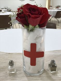 Dollar store DIY nurse graduation decorations.