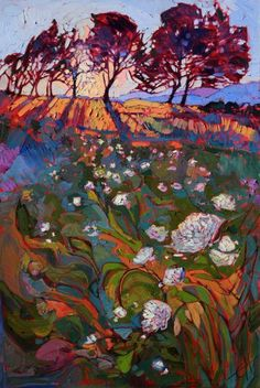 Shadow Bloom - modern impressionism oil painting by Erin Hanon