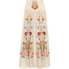 Toledo floral-embroidered silk-blend organza maxi skirt (5.270 ARS) ❤ liked on Polyvore featuring skirts, bottoms, faldas, maxi skirts, pink skirt, long skirts, floor length skirt, organza skirt and pink maxi skirt