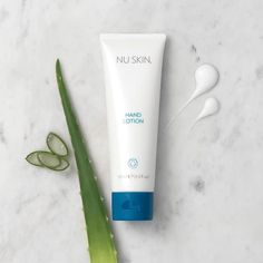 NU SKIN HAND LOTION Skin drinks in this light lotion so your hands are left soft and hydrated. Pamper your hands wit. Nu Skin, Nuskin Toothpaste, Hand Lotion, Hampers, Moisturizer, Skin Care, Drinks, Business, Skincare Routine