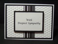 Handmade Greeting Card: Sympathy Card, Condolence Card, Black, White on Etsy, $3.00