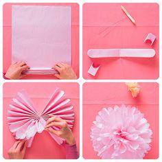 Pompones de papel
