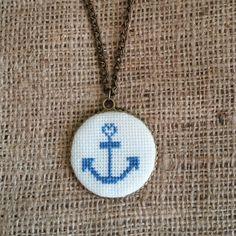 Kanaviçe kolye Palestinian Embroidery, Button Earrings, Cross Stitch Embroidery, Anniversary Gifts, Pendants, Crafty, Jewels, Sewing, Pattern
