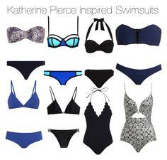 A fashion look from August 2015 featuring halter bikinis, bikini swimwear and swimsuits bikini. Vampire Diaries Fashion, Swimsuits, Bikinis, Swimwear, Girl Outfits, Cute Outfits, Band Camp, Katherine Pierce, Lisa Marie Fernandez
