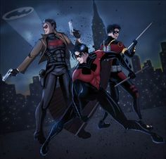 Bat Boys' Night Out by AlphaLunatic.deviantart.com on @deviantART