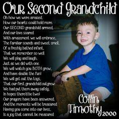 SECOND Grandchild Poem Block XL by WasteNotRecycledArt on Etsy
