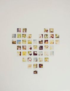 vintage polaroid film original fine art photograph photo heart love romantic wall decor 5x7 hipster