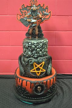 Heavy Metal Cake by Broken Sparrow Cakes