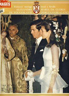 01.07.1972 : mariage de la princesse Maria da Gloria d'Orléans-Bragance et du prince Alexandre de Yougoslavie