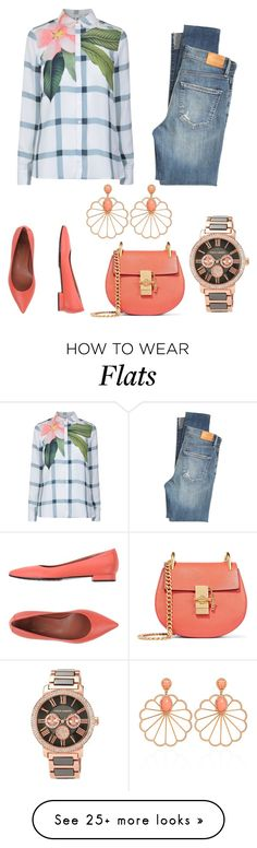 """"""""""" by queen-naznaz on Polyvore featuring Ted Baker, Citizens of Humanity, Vince Camuto, F.Lli Bruglia and Chloé"""
